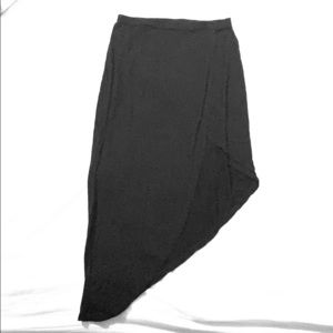 ONLY WORN ONCE Black Asymmetrical Skirt